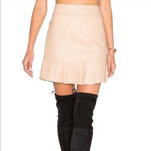 NWT - Tan Mini Leather Skirt - Size M